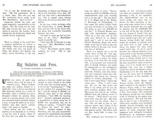 Article Preview: Big Salaries and Fees., November 1905 | Maclean's