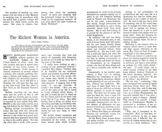 Article Preview: The Richest Woman in America., November 1905 | Maclean's