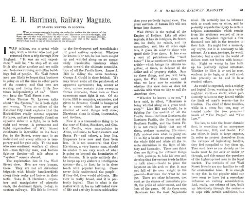 Article Preview: E. H. Harriman, Railway Magnate., November 1905 | Maclean's