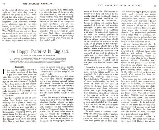 Article Preview: Two Happy Factories in England., November 1905   Maclean's