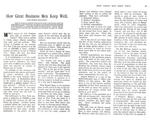 Article Preview: How Great Business Men Keep Well., November 1905 | Maclean's