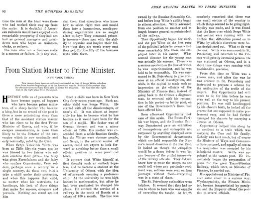 Article Preview: From Station Master to Prime Minister., November 1905 | Maclean's