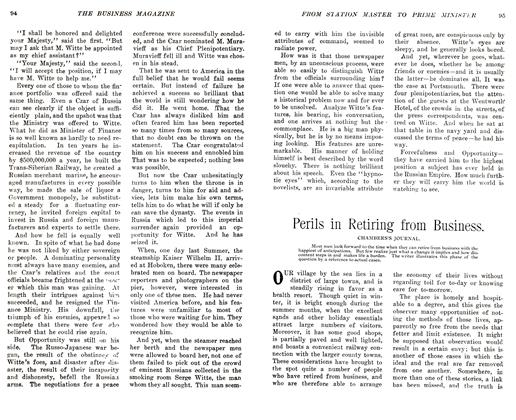 Article Preview: Perils in Retiring from Business., November 1905 | Maclean's