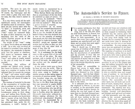 Article Preview: The Automobile's Service to France., December 1905 | Maclean's