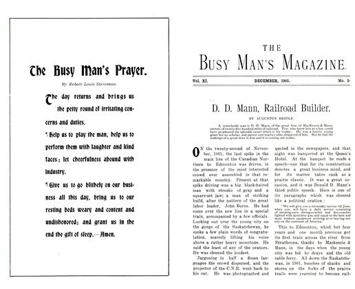 Article Preview: D. D. Mann, Railroad Builder., December 1905 | Maclean's