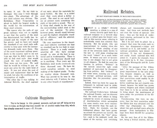 Article Preview: Railroad Rebates., December 1905 | Maclean's