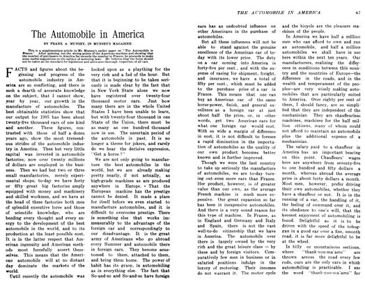 Article Preview: The Automobile in America, February 1906 | Maclean's