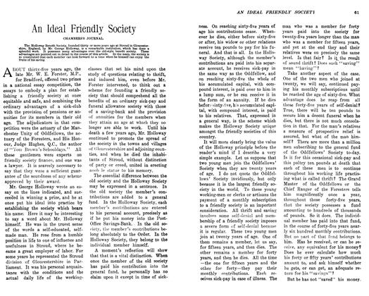 Article Preview: An Ideal Friendly Society, February 1906 | Maclean's