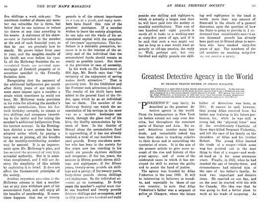 Article Preview: Greatest Detective Agency in the World, February 1906 | Maclean's