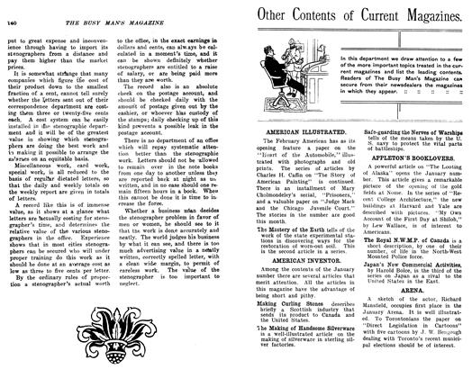 Article Preview: Other Contents of Current Magazines., February 1906 | Maclean's