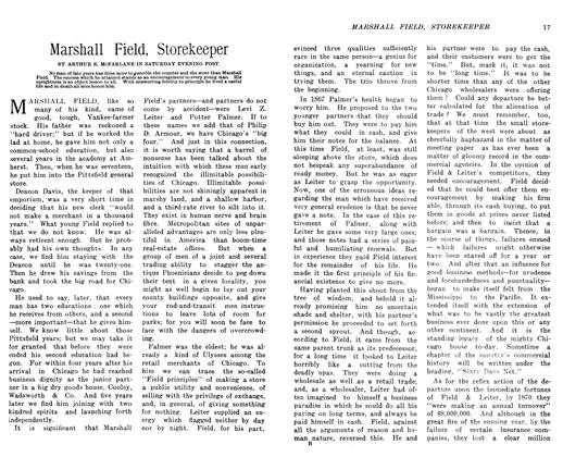 Article Preview: Marshall Field, Storekeeper, March 1906 | Maclean's