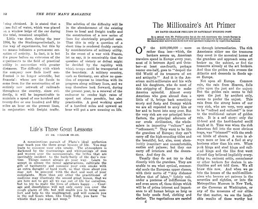Article Preview: The Millionaire's Art Primer, March 1906 | Maclean's