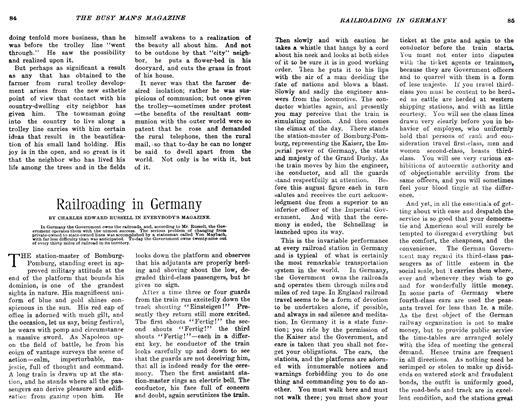 Article Preview: Railroading in Germany, March 1906 | Maclean's