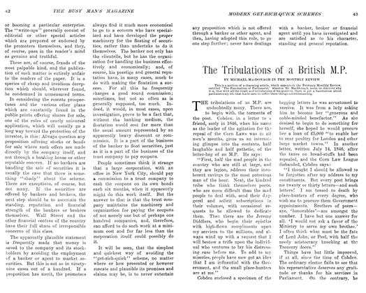 Article Preview: The Tribulations of a British M.P., April 1906 | Maclean's