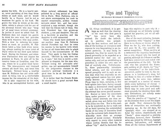 Article Preview: Tips and Tipping, April 1906 | Maclean's