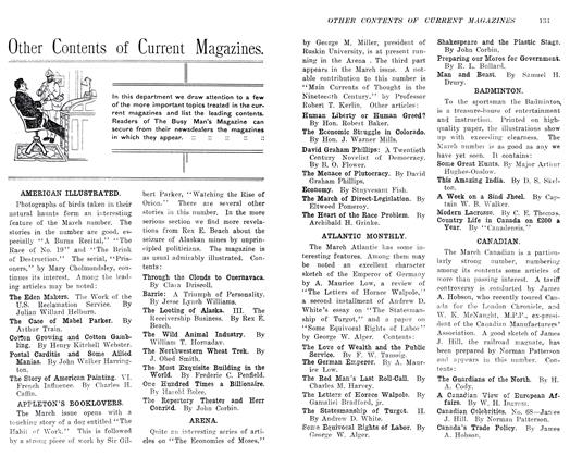 Article Preview: Other Contents of Current Magazines, April 1906 | Maclean's