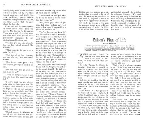 Article Preview: Edison's Plan of Life, May 1906 | Maclean's