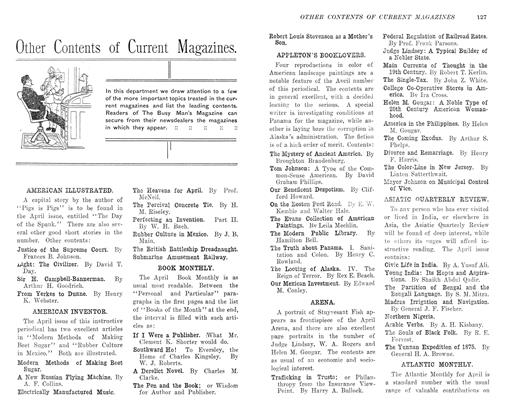 Article Preview: Other Contents of Current Magazines., May 1906 | Maclean's