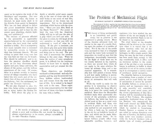 Article Preview: The Problem of Mechanical Flight, July 1906 | Maclean's