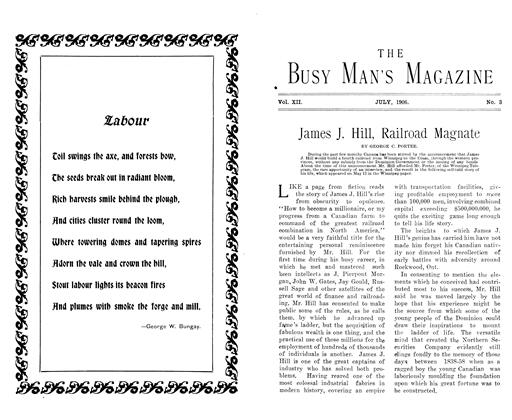 Article Preview: James J. Hill, Railroad Magnate, July 1906   Maclean's