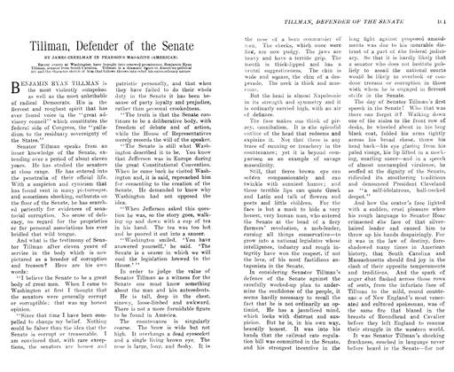 Article Preview: Tillman, Defender of the Senate, July 1906 | Maclean's
