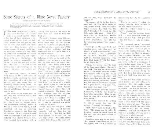 Article Preview: Some Secrets of a Dime Novel Factory, August 1906 | Maclean's