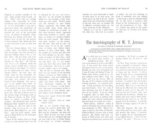 Article Preview: The Autobiography of W. T. Jerome, August 1906 | Maclean's