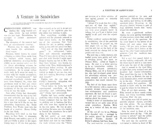 Article Preview: A Venture in Sandwiches, August 1906 | Maclean's