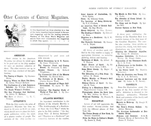 Article Preview: Other Contents of Current Magazines., August 1906 | Maclean's