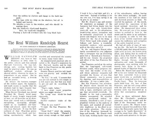 Article Preview: The Real William Randolph Hearst, SEPT., 1906 1906 | Maclean's