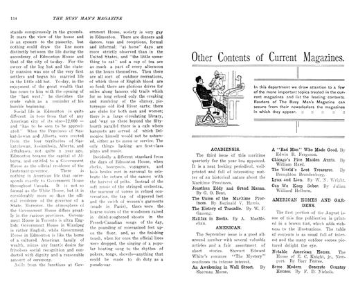 Article Preview: Other Contents of Current Magazines., SEPT., 1906 1906 | Maclean's