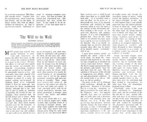 Article Preview: The Will to be Well, November 1906 | Maclean's