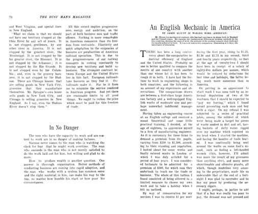 Article Preview: An English Mechanic in America, November 1906 | Maclean's
