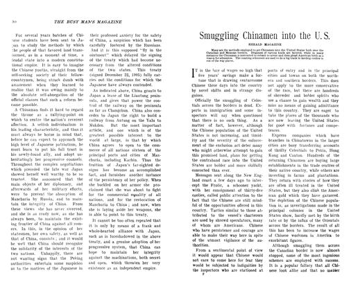 Article Preview: Smuggling Chinamen into the U. S., November 1906 | Maclean's