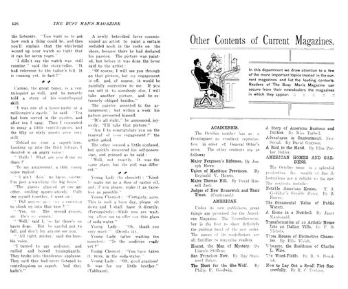 Article Preview: Other Contents of Current Magazines., November 1906 | Maclean's