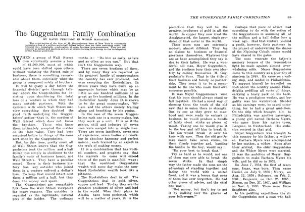 Article Preview: The Guggenheim Family Combination, January 1907 | Maclean's