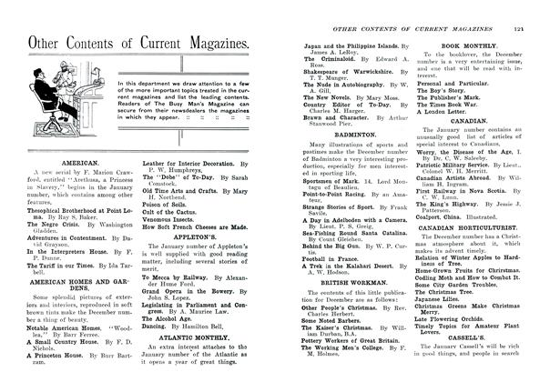 Article Preview: Other Contents of Current Magazines., January 1907 | Maclean's