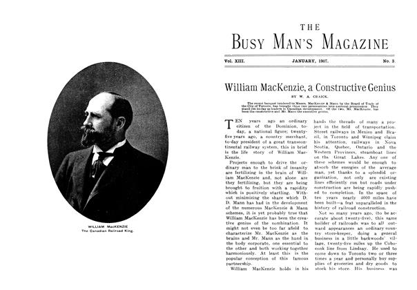 Article Preview: William MacKenzie, a Constructive Genius, January 1907 | Maclean's