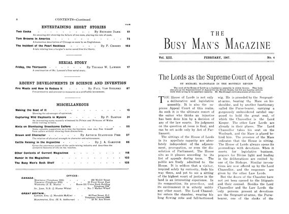 Article Preview: The Lords as the Supreme Court of Appeal, February 1907 | Maclean's