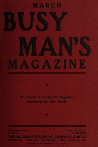 Issue: - March 1907 | Maclean's