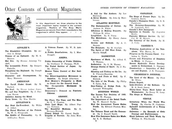 Article Preview: Other Contents of Current Magazines., March 1907 | Maclean's