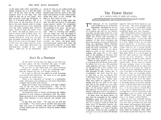 Article Preview: The Flower Doctor, April 1907 | Maclean's