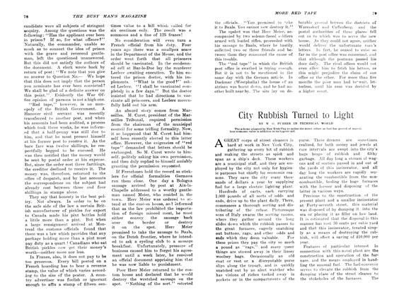 Article Preview: City Rubbish Turned to Light, April 1907 | Maclean's