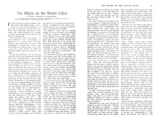 Article Preview: The Blight on the Easter Lilies, April 1907   Maclean's