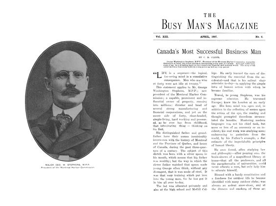 Article Preview: Canada's Most Successful Business Man, April 1907 | Maclean's