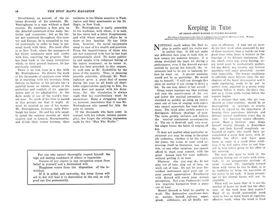 Article Preview: Keeping in Tune, May 1907 | Maclean's