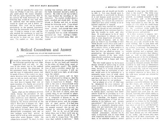Article Preview: A Medical Conundrum and Answer, May 1907 | Maclean's
