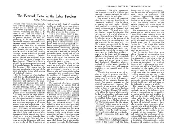 Article Preview: The Personal Factor in the Labor Problem, August 1907 | Maclean's