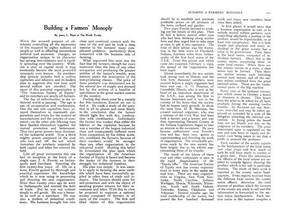 Article Preview: Building a Farmers' Monoply, August 1907 | Maclean's