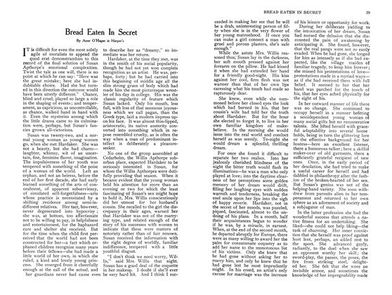 Article Preview: Bread Eaten In Secret, September 1907 | Maclean's